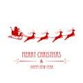 Santa Claus silhouette Royalty Free Stock Photo