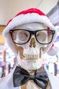 Santa Claus skeleton Royalty Free Stock Photo