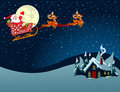 Santa Claus in Sled Royalty Free Stock Image