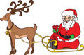 Santa Claus and Sledge Royalty Free Stock Images