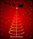 Santa claus in sleigh Royalty Free Stock Photo