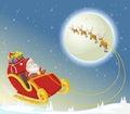 Santa Claus on sleigh Royalty Free Stock Photo