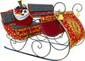 Santa Claus Sleigh, Toys, Isolated Royalty Free Stock Photo