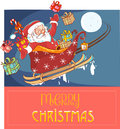 Santa Claus in a sleigh Royalty Free Stock Photo