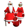 Santa Claus and the Snow Maiden Stock Images