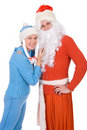 Santa Claus and the Snow Maiden Royalty Free Stock Photography