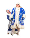 Santa Claus and Snow Maiden Royalty Free Stock Photos