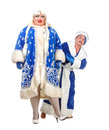 Santa Claus and Snow Maiden Stock Image