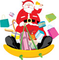 Santa Claus snow sliding Royalty Free Stock Photography
