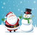 Santa Claus and snowman Royalty Free Stock Images