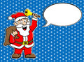 Santa claus with speech bubble vector illustration of a cartoon Stock Photography