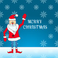 Santa Claus standing in the snow eps 10 Royalty Free Stock Photo
