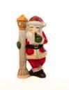 Santa Claus Statue at North Pole Sharp, White Background