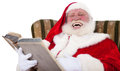 Santa Claus telling a story Stock Photography
