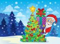 Santa claus theme image eps vector illustration Royalty Free Stock Images