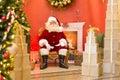 Santa Claus on throne