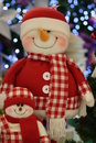 Santa claus toy close up photo taken on december nd Stock Image