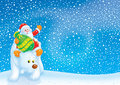 Santa Claus travels on the Polar Bear Royalty Free Stock Photos