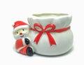 Santa Claus on a vase
