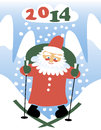 Santa claus vector cartoon fanny Royalty Free Stock Photography