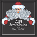 Santa claus vector christmas illustration with Stock Image