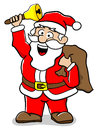 Santa claus vector illustration of a cartoon on white background Stock Photography