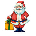 Santa claus vector illustration of with gifts Stock Photos