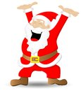 Santa claus vector illustration of on white background Royalty Free Stock Photo