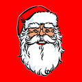 Santa claus vintage illustration over red background Stock Images