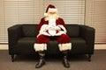 Santa Claus waiting for christmas job Royalty Free Stock Photo