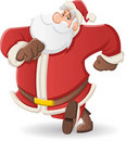 Santa Claus walking Royalty Free Stock Image