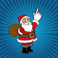 Santa claus and web cursor gifts Royalty Free Stock Image