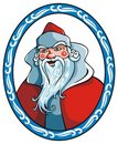 Santa Claus in winter frame Royalty Free Stock Photo