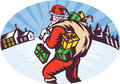 Santa claus winter presents Royalty Free Stock Image