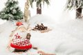 Santa claus winter scene Royaltyfri Foto
