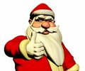 Santa claus is wishing good luck and wink d with thumb Stock Images