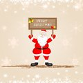 Santa Claus wishing Merry Christmas Royalty Free Stock Photography