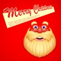Santa claus wishing merry christmas illustration of face Royalty Free Stock Photos