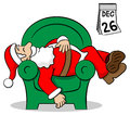 Santa claus after work vector illustration of Stock Images