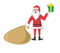 Santa clause bring a gift Royalty Free Stock Photos