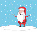 Santa clause chibi is enjoying the snow falling Stock Photography