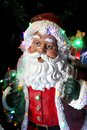 Santa clause decoration with lights Stock Photo