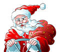 Santa clause drive Royalty Free Stock Images
