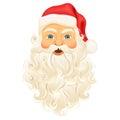 Santa Clause face Royalty Free Stock Photo