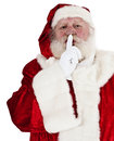 Santa clause in front of white background Stock Images