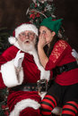 Santa Clause gets a secret Royalty Free Stock Photo