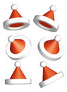 Santa Clause Hat 3d vector Royalty Free Stock Images