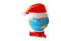 Santa Clause hat on a globe Royalty Free Stock Photo