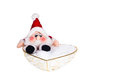 Santa clause little on white background Stock Photo
