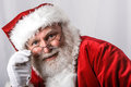 Santa clause stopped by for some portraits on his way back to the north pole he has alot of work to build all the toys for all the Royalty Free Stock Photography